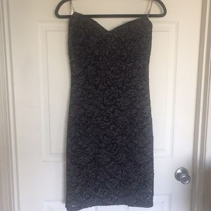 Black strapless laced dress